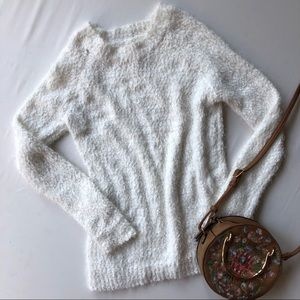 LC Lauren Conrad white feather sweater XS NWT
